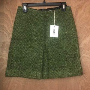 NEW Orla Kiely's Olive Mohair Jean Skirt